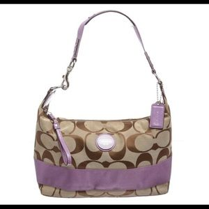 Coach Monogram Canvas Hobo Bag/Wallet